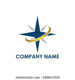 Star logo compass style design concept
