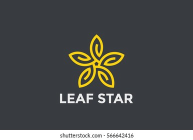 Star Logo design Infinity loop vector template