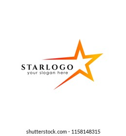 star logo design stock. star icon in gradient style