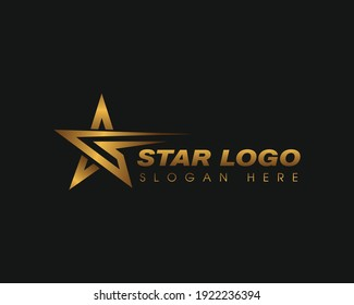 star logo golden star logo simple creative logo