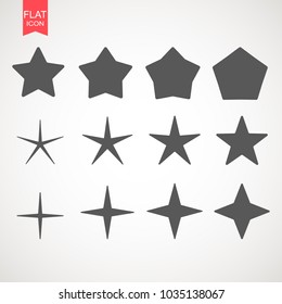 Star logo icon design template element. Creative Abstract star sign Branding Identity Corporate vector unusual logo design template. Isolated on a white background