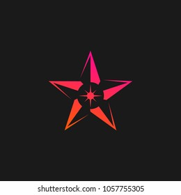 star logo icon vector illustratipon isolated image design template with black background