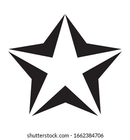 Star logo icon vector. Simple Minimalist Style with Arrows