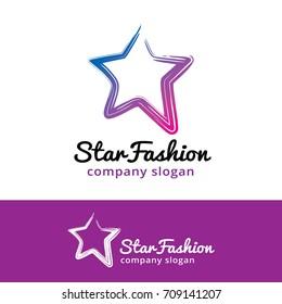 Star Logo Template Design Vector, Emblem, Design Concept, Creative Symbol, Icon