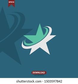 Star logo vector concept design