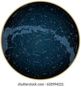 star map Constellation map