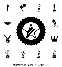 star in the medal icon. Detailed set of Sucsess and awards icons. Premium quality graphic design sign. One of the collection icons for websites, web design, mobile app on white background