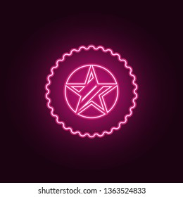 star in the medal icon. Elements of Sucsess and awards in neon style icons. Simple icon for websites, web design, mobile app, info graphics