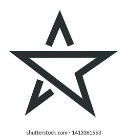 star - minimal line web icon. simple vector illustration. concept for infographic, website or app.