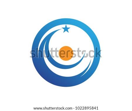 Star moon logo business template vector stock vector royalty free star and moon logo business template vector icons maxwellsz