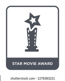 star movie award icon vector on white background, star movie award trendy filled icons from Cinema collection, star movie award vector illustration