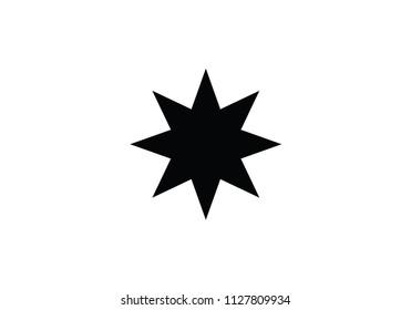 Star national symbol Azerbaijan flag country 8 point eight point