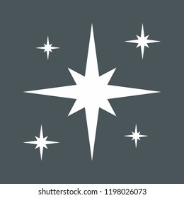 Star north christmas cut vector