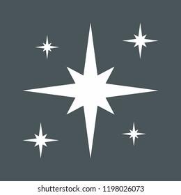 Star north christmas vector