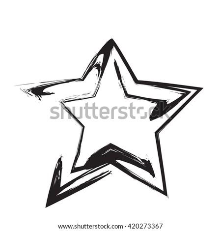 Star Patriot Symbol Grunge Vector Shape Stock Vector Royalty Free