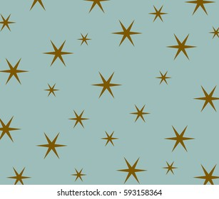 star pattern on blue background