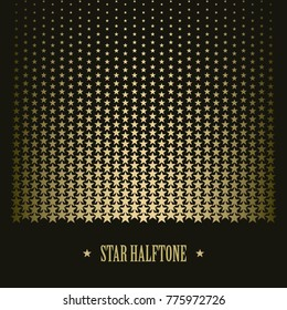 Star pattern vector bacground halftone effect