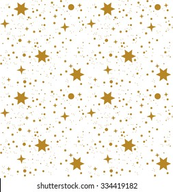 Star, pattern, white, background, gold, gift wrap
