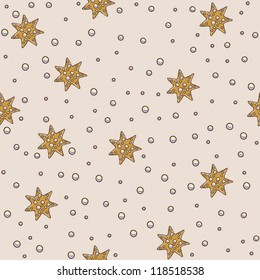 Star and pearls seamless pattern