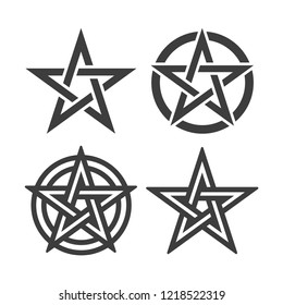 Star of pentagram symbol vector image