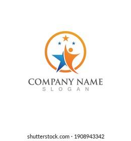 Star people logo and symbol success health