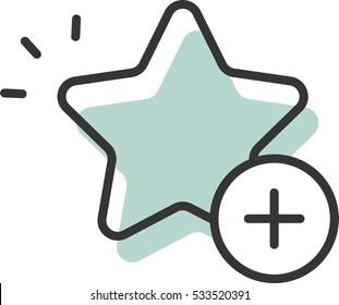star plus vector icon