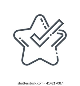 Star, project features icon suitable for info graphics, websites and print media and  interfaces. Hand drawn style, pixel perfect line vector icon.