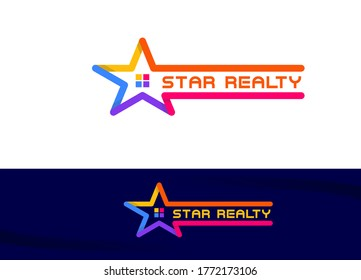 Star Property Realty Logo Sign Symbol Icon.