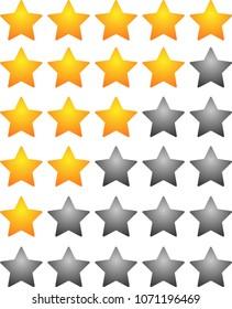star rating bar set