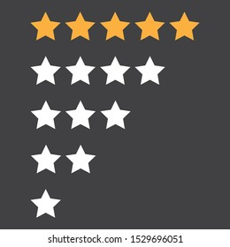 Star Rating Graphic Set - Vector