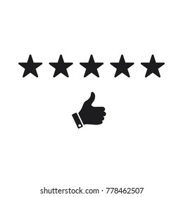 star rating vector icon, like icon, star rating and like icon conception, flat design best vector star rating illustration