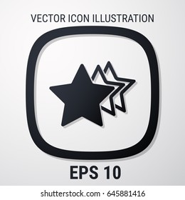 star rating vector illustration. Web stock infographics. Flat style for graphic and web design, Modern vector sign. Internet concept. Trendy symbol for website design web button, mobile app.