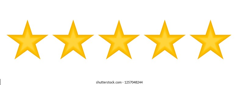 Star Rating zero up to five.Five stars customer product rating review icon for apps and websites. Vector illustration.