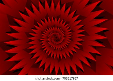 Star red abstract vector pattern, Concentric star shapes - red