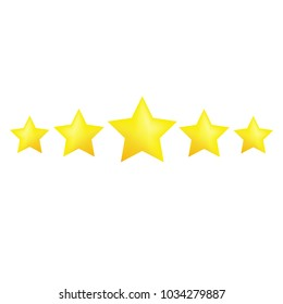 Star review rating vector icons. Website product review stars.