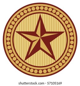 star seal (sign, symbol, badge)