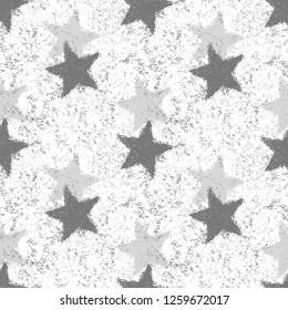 Star Seamless Pattern. Christmas Background. Vector Illustration.
