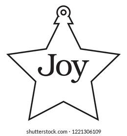 Star Shaped Antique Christmas Tree Ornament.