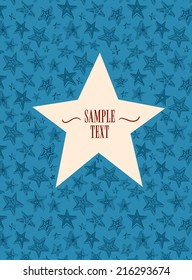 Star shaped frame on decorative background. Perfect to place your text.