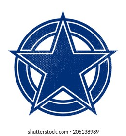 Star shield badge vector icon