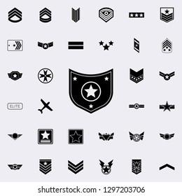 star in the shield icon. Army icons universal set for web and mobile