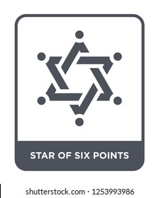 star of six points icon vector on white background, star of six points trendy filled icons from Geometric figure collection, star of six points simple element illustration