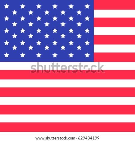 U.s flag star strip