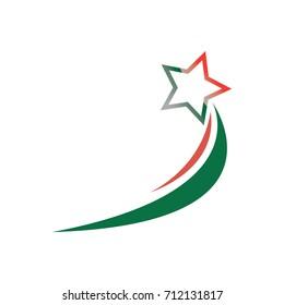 star swoosh accent logo