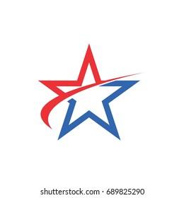 star swoosh logo