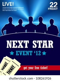star talent show poster -web and print template