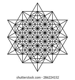 Star tetrahedron geometric drawing