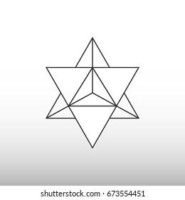 Star tetrahedron icon
