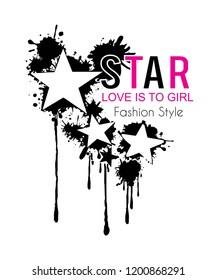star for t-shirt,slogan