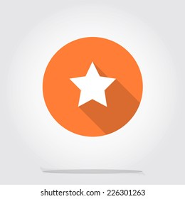 Star vector flat icon